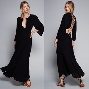 Free People Margarita Flamingo Maxi Dress